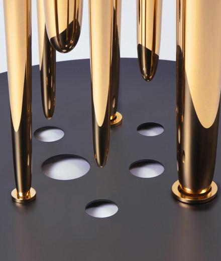 "L'objet du jour : la table basse ""Glory Holes"" du designer Richard Yasmine"