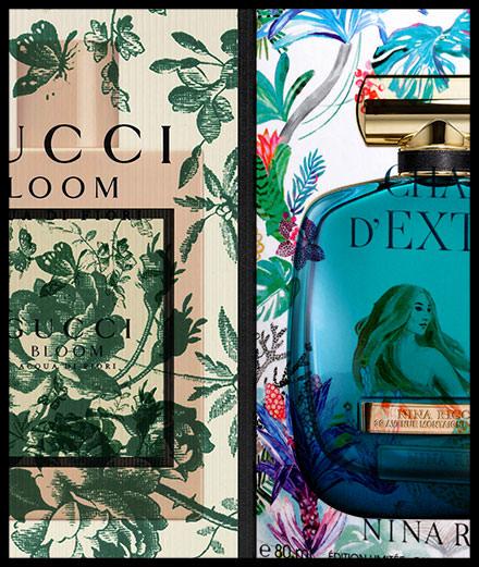 Inspiration papier peint floral pour  Gucci, Rochas et Nina Ricci