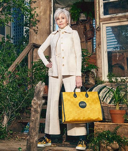 Gucci lance une ligne écoresponsable incarnée par Jane Fonda et Lil Nas X