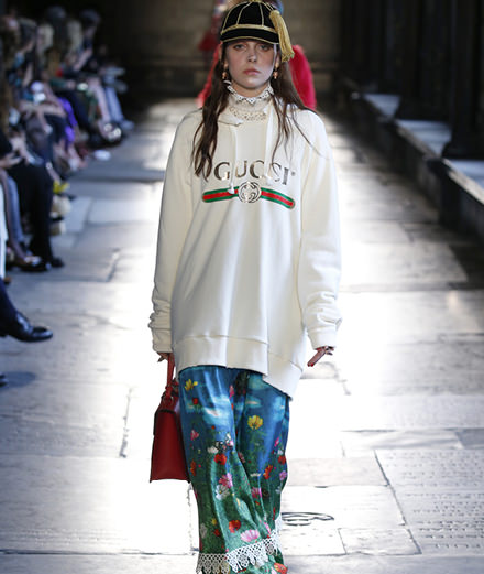 Gucci Cruise 2017's runway show at Westminster Abbey