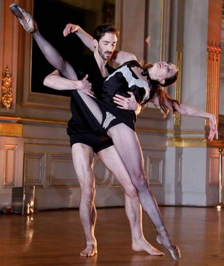 La performance de  Marie-Agnès Gillot et Vincent Chaillet au musée d'Orsay