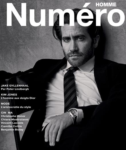 Exclusif : l'acteur Jake Gyllenhaal par Peter Lindbergh en couverture du nouveau Numéro Homme