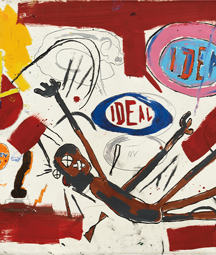 A rare drawing by Jean-Michel Basquiat is estimated at 10 million dollars