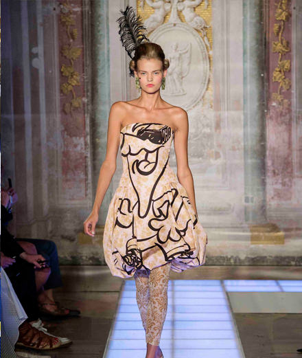 Jeremy Scott's baroque excess for Moschino