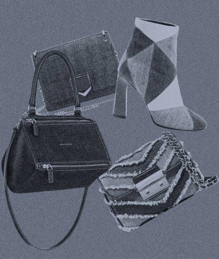 Les accessoires en jean de Givenchy par Riccardo Tisci, Jimmy Choo, Michael Kors et Camille Seydoux pour Roger Vivier