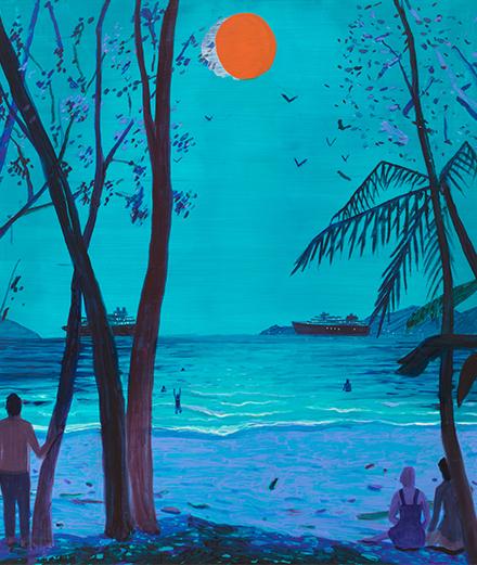 Jules de Balincourt invite dans sa jungle colorée à la galerie Ropac