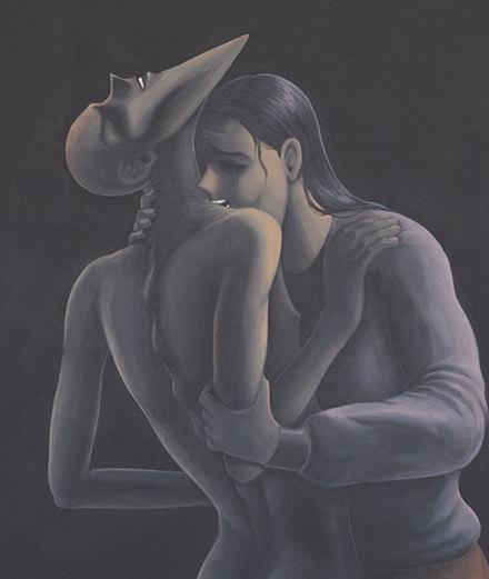 Sexe, malaise et manga, les toiles étranges de Julien Ceccaldi