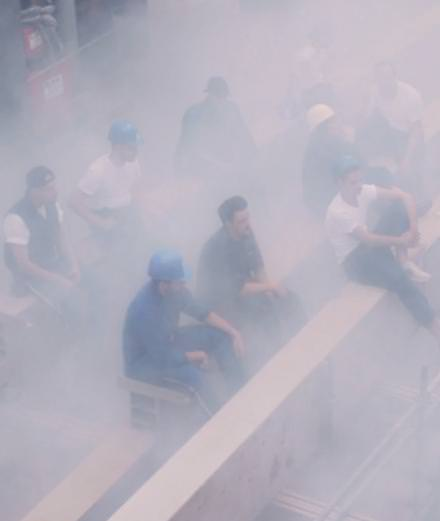 """The poetic smoke sculptures of the collective (LA)HORDE in """"Cloud Chasers"""""""