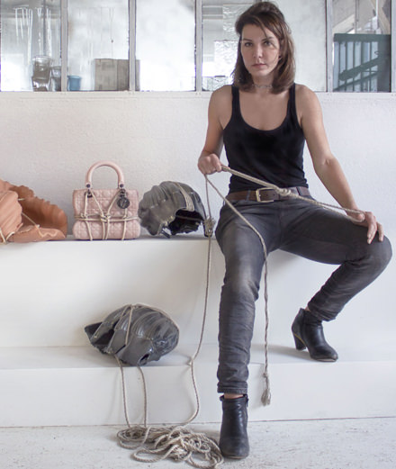 Artist Morgane Tschiember transforms the Lady Dior bag into an erotic object