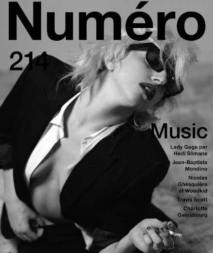 Lady Gaga by Hedi Slimane on the cover of Numéro Music