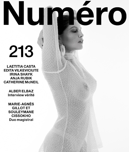 """Laetitia Casta and Edita Vilkeviciute on the cover of the new Numéro """"Corps"""""""