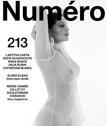 Laetitia Casta et Edita Vilkeviciute en cover du Numéro de mai 2020