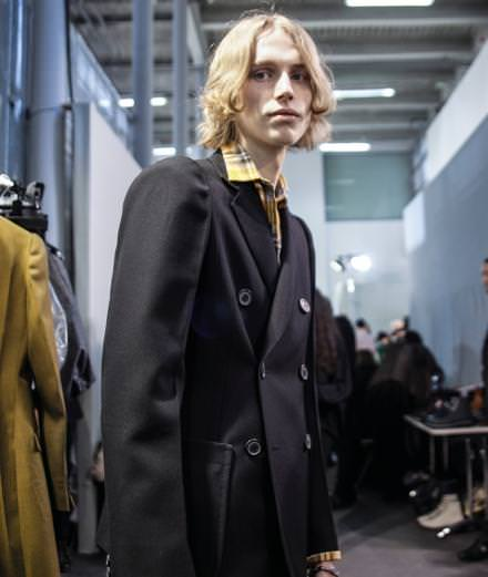Backstage: Lanvin menswear Fall-Winter 2017 seen by Mehdi Mendas