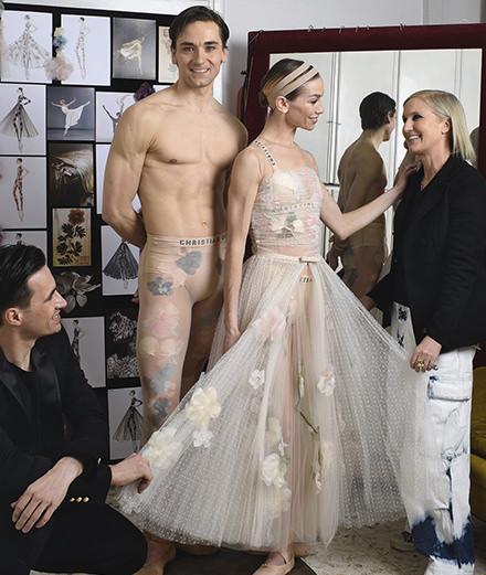 Quand Dior habille de fleurs les danseurs du Teatro dell'Opera à Rome