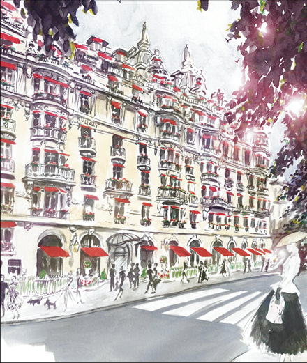 """""""Menu Dior"""" : the haute couture invites itself to the Plaza Athénée"""