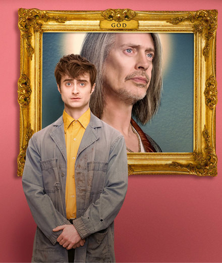 "Daniel Radcliffe and Steve Buscemi get to heaven in the series ""Miracle Workers"""