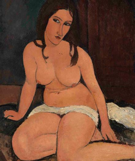 Portfolio : les nus sulfureux et les portraits moroses de Modigliani