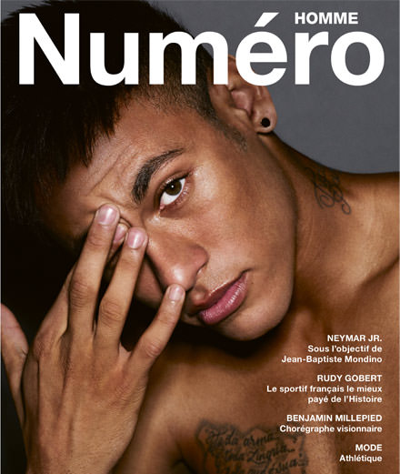 Exclusif : Neymar Jr. par Jean-Baptiste Mondino en couverture du nouveau Numéro Homme