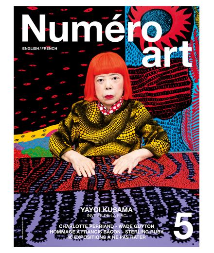 L'artiste Yayoi Kusama en couverture de Numéro art #5