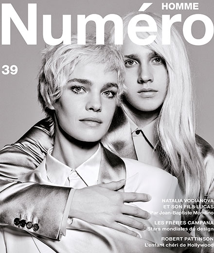 Exclusive: top model Natalia Vodianova and her son Lucas by Jean-Baptiste Mondino on the cover of the new Numéro Homme