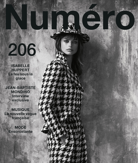 The contents of September 2019's Numéro with Isabelle Huppert, Jean-Baptiste Mondino, Marie-Flore, S.Pri Noir…