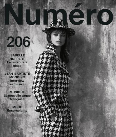 The contents of September 2019's Numéro with Isabelle Huppert, Jean-Baptiste Mondino, Marie-Flore, S.Pri Noir…