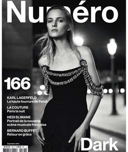 Daria Strokous covers the September issue of Numéro photographed by Nathaniel Goldberg