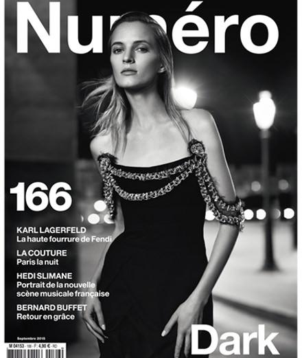Cover story : Daria Strokous photographiée par Nathaniel Goldberg en robe Chanel Haute Couture pour le Numéro Dark