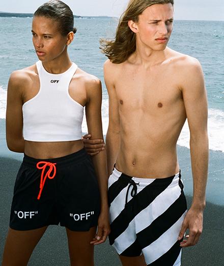 Off-White et Vilebrequin signent une collection de maillots de bain