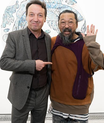 Le vernissage de l'exposition Murakami à la galerie Perrotin