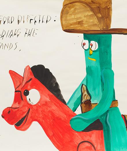 Cowboys et cœurs saignants : l'art de Raymond Pettibon explose chez David Zwirner