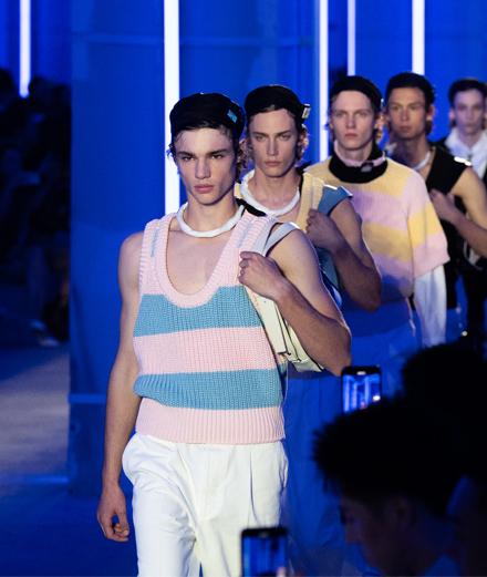 Le défilé Prada homme printemps-été 2020 à Shanghaï