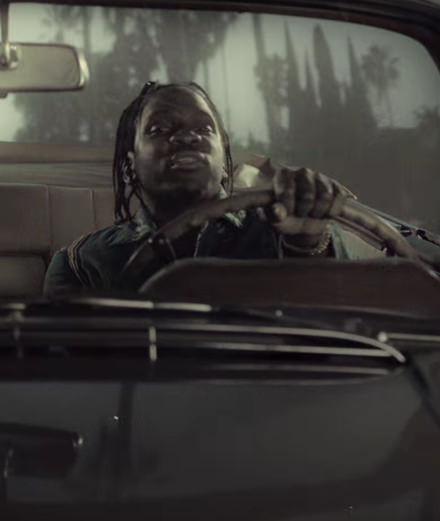 Kanye West and A$ap Rocky in Pusha T's new video