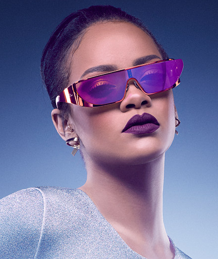 Rihanna's futuristic glasses for Dior