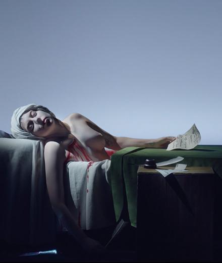 Lady Gaga et Winona Ryder deviennent des tableaux vivants