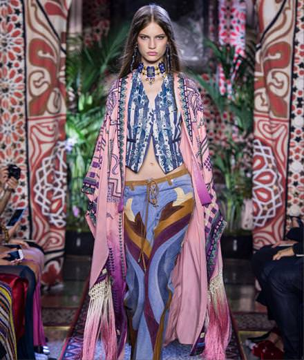 Gypset looks from the Roberto Cavalli Spring/Summer 2017 runway show