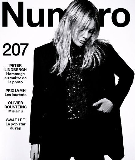The contents of October 2019's Numéro with Peter Lindbergh, Olivier Rousteing, Swae Lee…