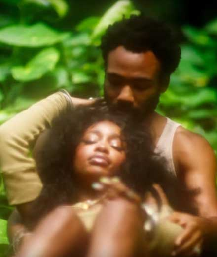 "SZA rejoint Childish Gambino au jardin d'Eden dans son nouveau clip ""Garden (Say It Like That)"""