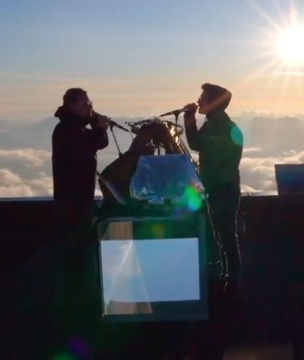 The Blaze en live à 4000 mètres d'altitude