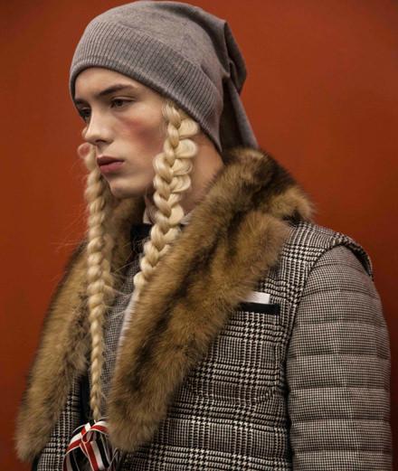 Backstage : le défilé Thom Browne automne-hiver 2018-2019 vu par Mehdi Mendas