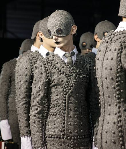 Backstage: Thom Browne menswear Fall-Winter 2017 collection seen by Mehdi Mendas