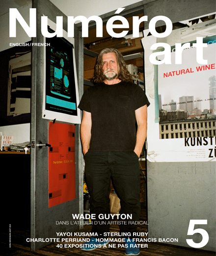 L'artiste Wade Guyton en couverture de Numéro art #5