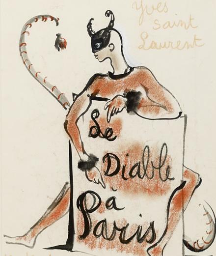 100 dessins d'Yves Saint Laurent aux enchères chez Cornette de Saint Cyr