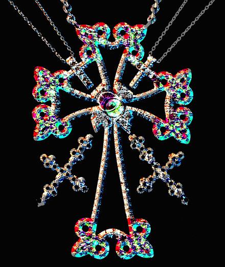 Les bijoux croix signés Caterina Murino