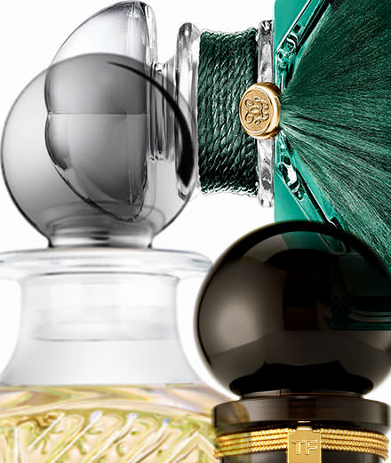 Perfumes, the spirit of glass according to Tom Ford, Kilian and Guerlain