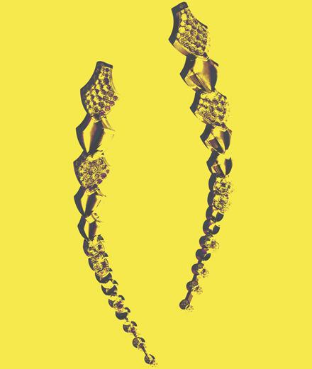 Les boucles d'oreilles python Akillis
