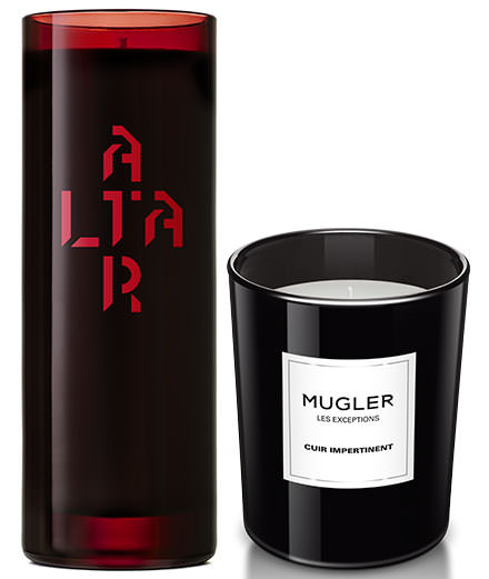 The minimalistic candles from Byredo and Mugler