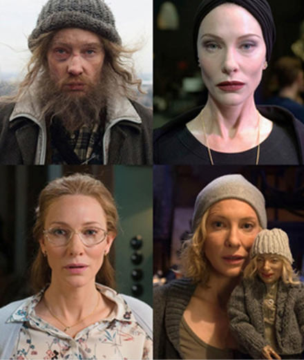 Cate Blanchett as a vagrant at the Paris Beaux-Arts
