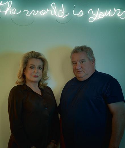 Catherine Deneuve, son interview vérité avec l'artiste Claude Lévêque