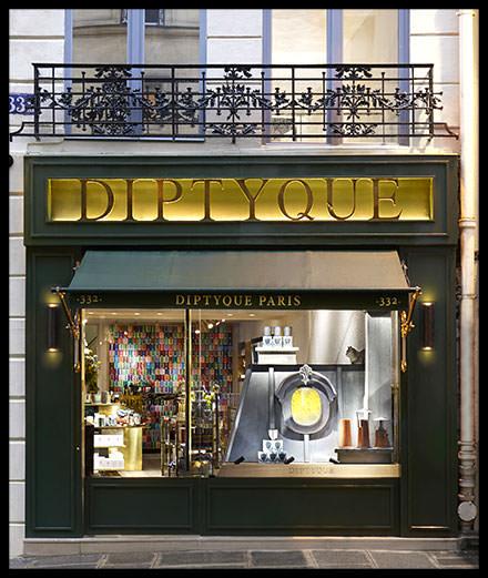 Diptyque installé rue Saint-Honoré, à Paris